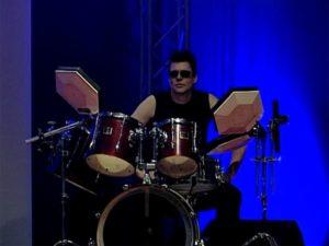 Der Drummer der Achtziger Jahre Band